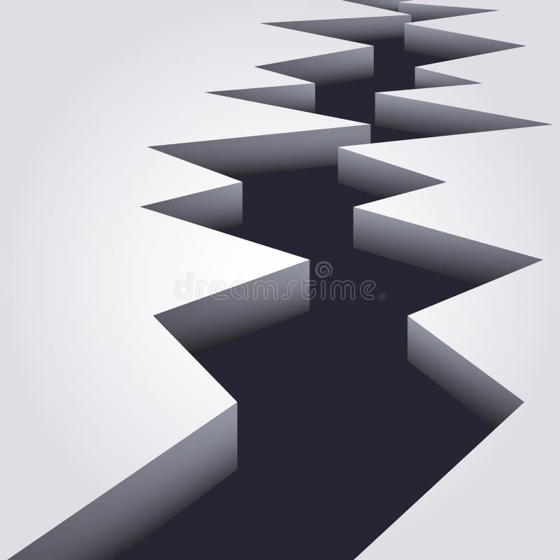 Crepa su una superficie illustrazione di stock