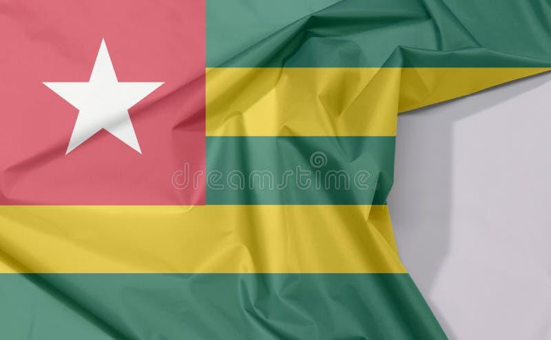 Crepe и залом флага ткани Того с белым космосом бесплатная иллюстрация