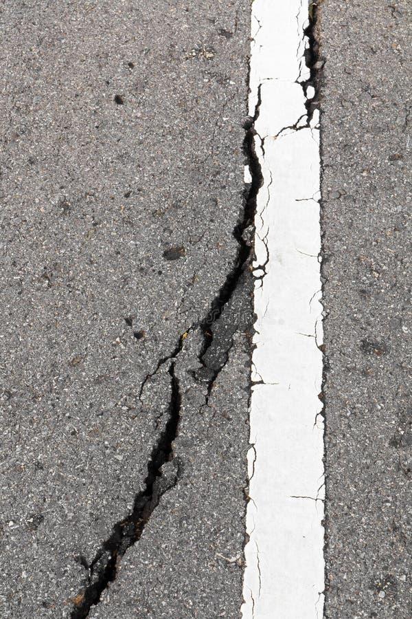 Crepe bagnate dell'asfalto fotografia stock