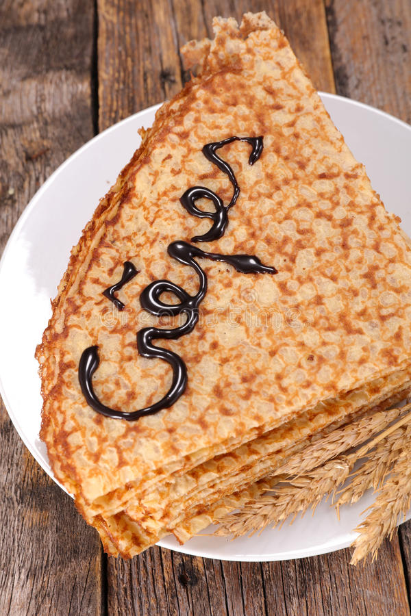 Crepe. Close up on delicious crepe stock image