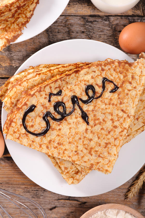 Crepe. Close up on delicious crepe stock photography