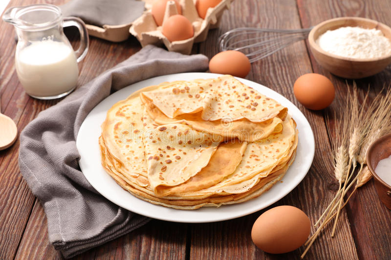Crepe. Close up on crepe with ingredient royalty free stock photos