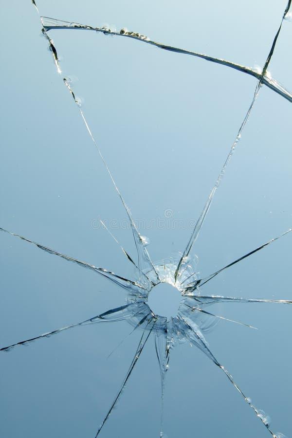 Crepe del foro di colpo delle finestre di vetro fotografia stock libera da diritti