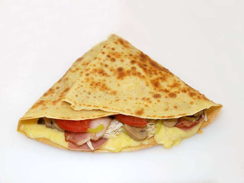 Crepe with filling royalty free stock images