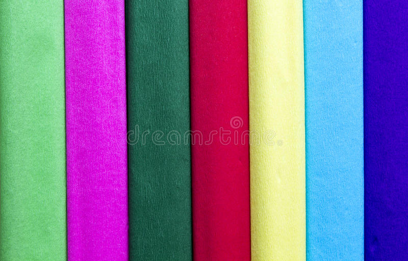 Crepe paper. Set of colorful tissue paper as background royalty free stock photos