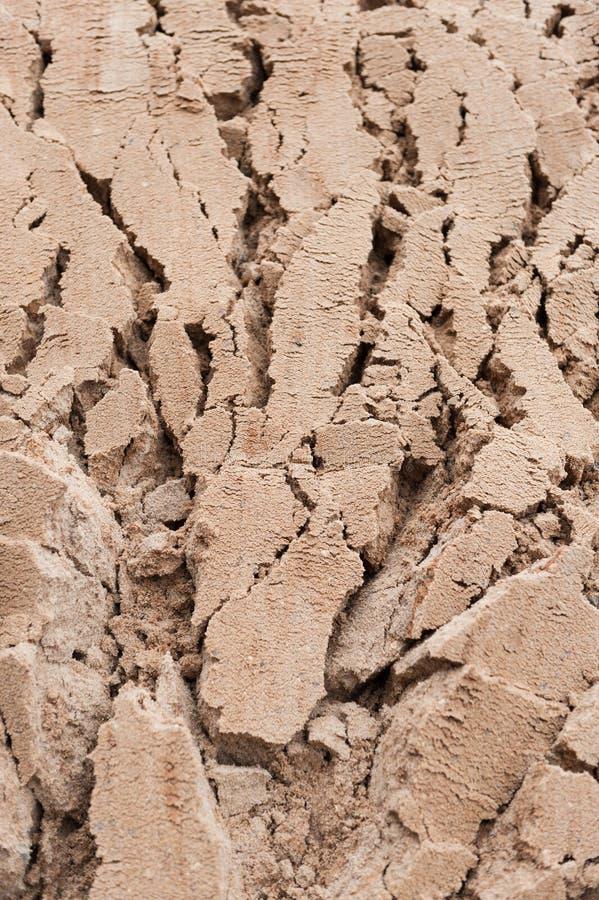 Crepe profonde del fondo in sabbia bagnata immagine stock