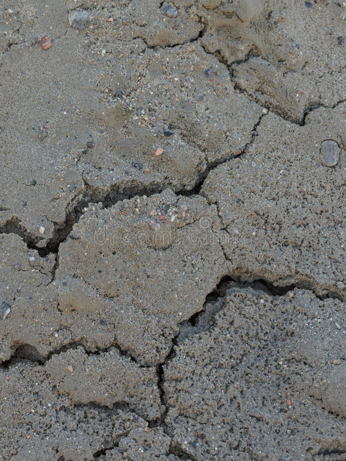 Crepe in sabbia asciutta e bagnata fotografie stock libere da diritti