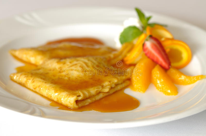 Crepe suzette royalty free stock photography