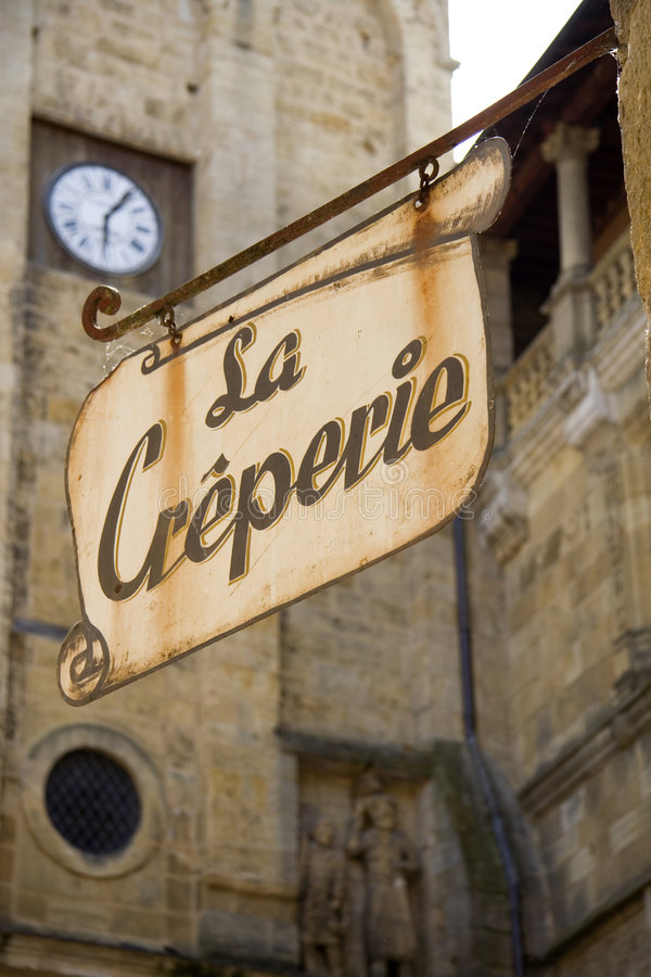Creperie royalty free stock photography