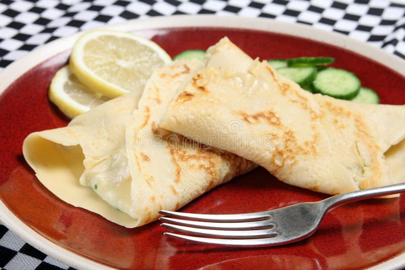 Download Crepes with a fork stock photo. Image of french, sauce - 28160676