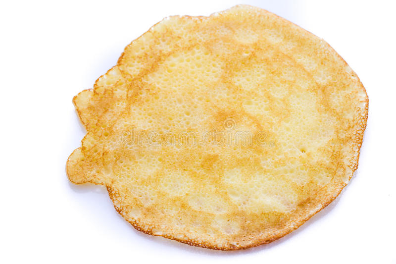 Crepes. Freshly homemade crepes on a white background royalty free stock photo