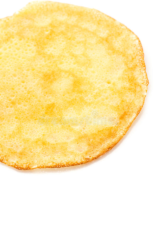 Crepes. Freshly homemade crepes on a white background stock photos