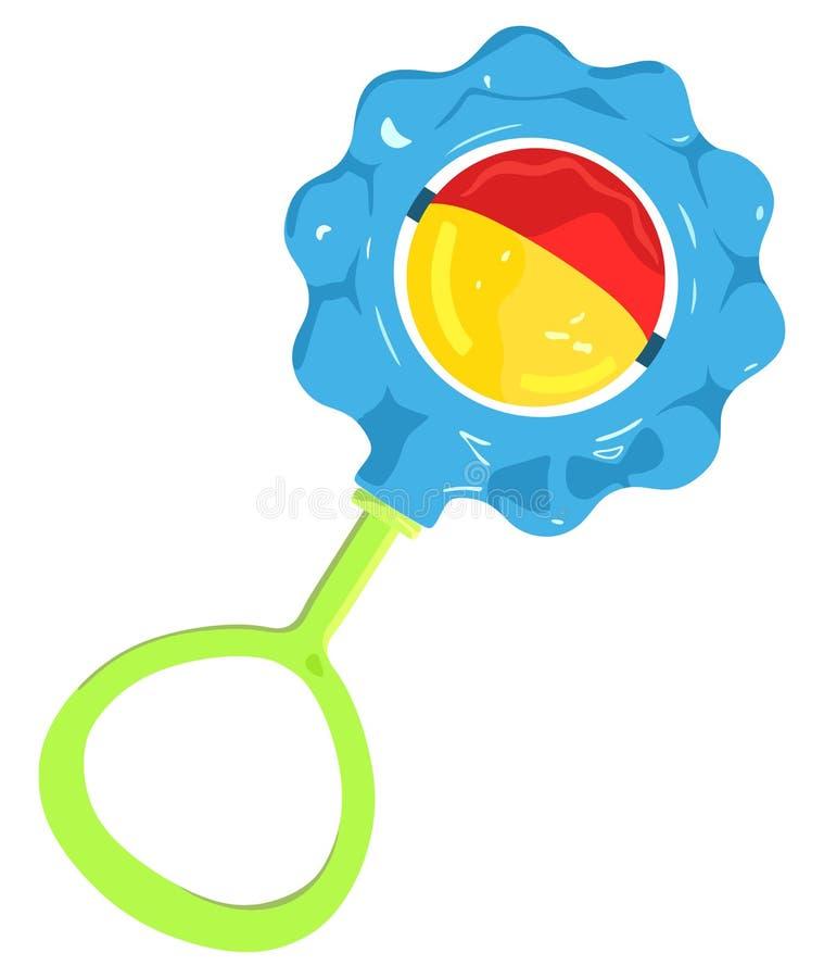 Crepitio del giocattolo del bambino illustrazione di stock