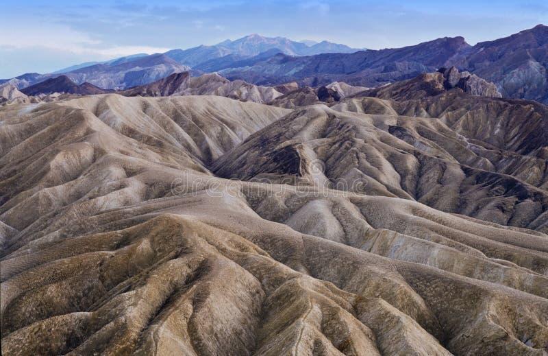Crepuscolo in Death Valley, California fotografia stock