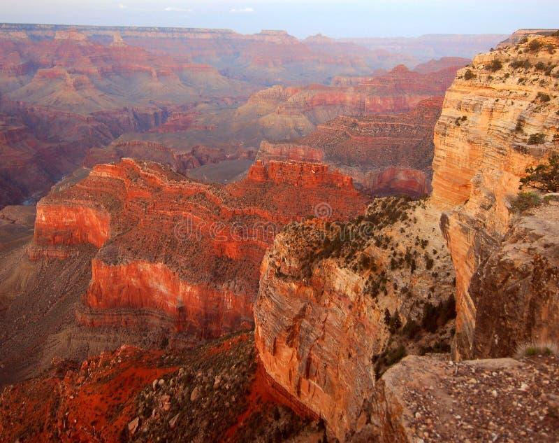 Crepuscolo del punto del Hopi, grande canyon immagine stock libera da diritti