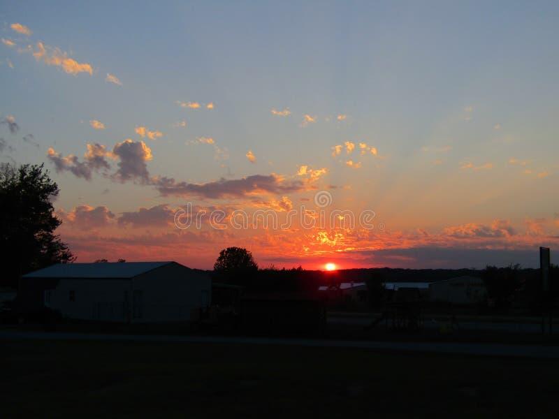 Shining Light. Crepuscular ray sunshine sunset clouds sky nature beauty light shining stock photos