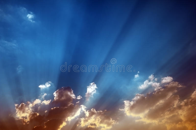 Download Crepuscular Rays stock photo. Image of blue, paas, godly - 20533598