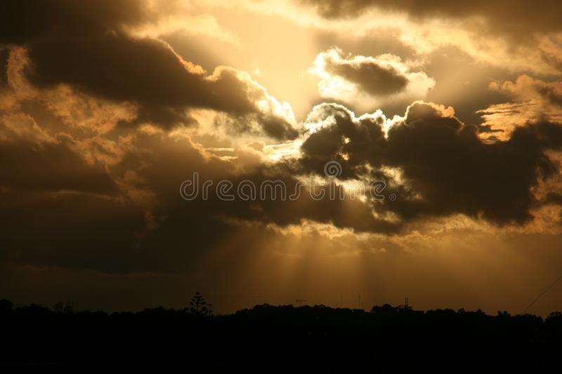 Crepuscular Rays royalty free stock photo