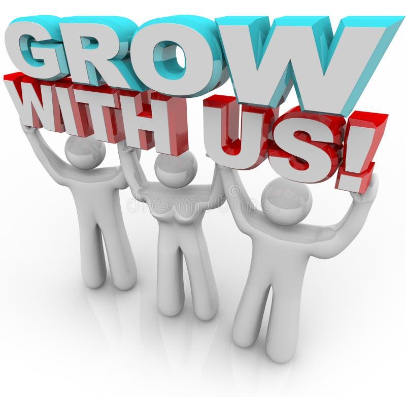 Cresça connosco - junte-se a um grupo para o crescimento pessoal ilustração stock