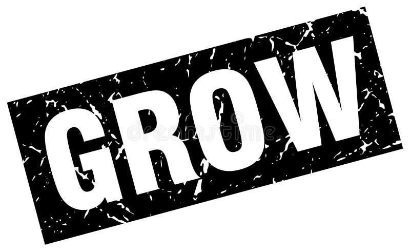 Cresça o selo ilustração royalty free
