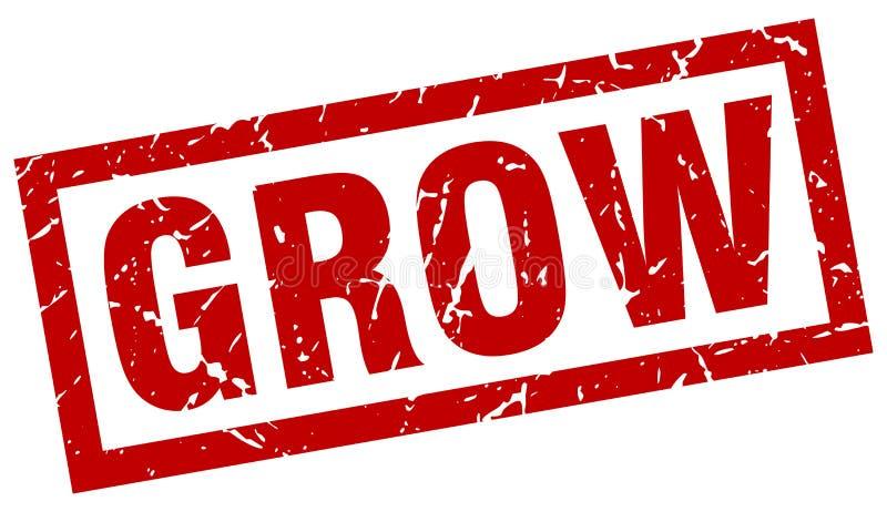 Cresça o selo ilustração stock