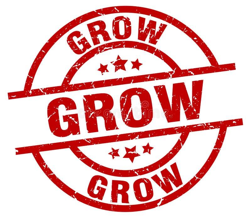 Cresça o selo ilustração do vetor