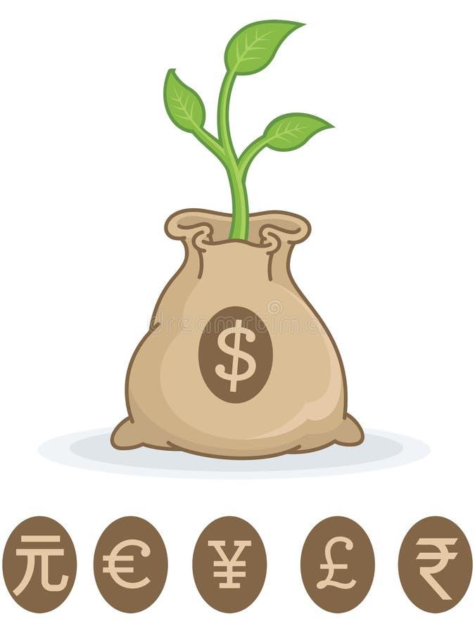Cresça seu dinheiro ilustração royalty free