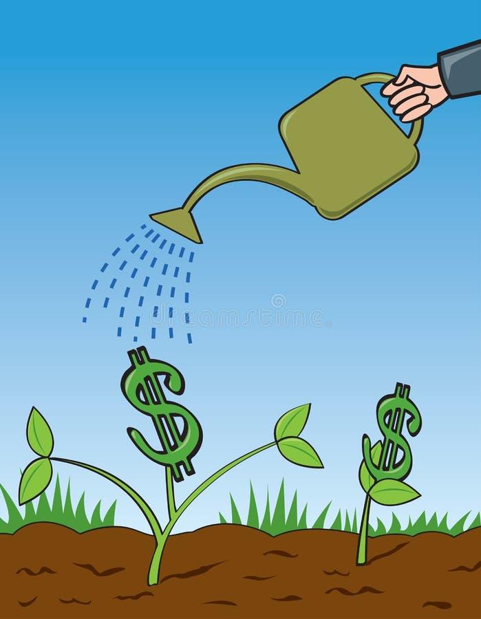 Cresça seu dinheiro ilustração stock