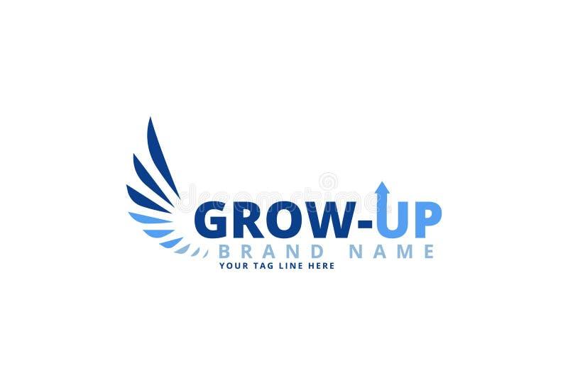 Cresca il vettore di riserva di logo royalty illustrazione gratis