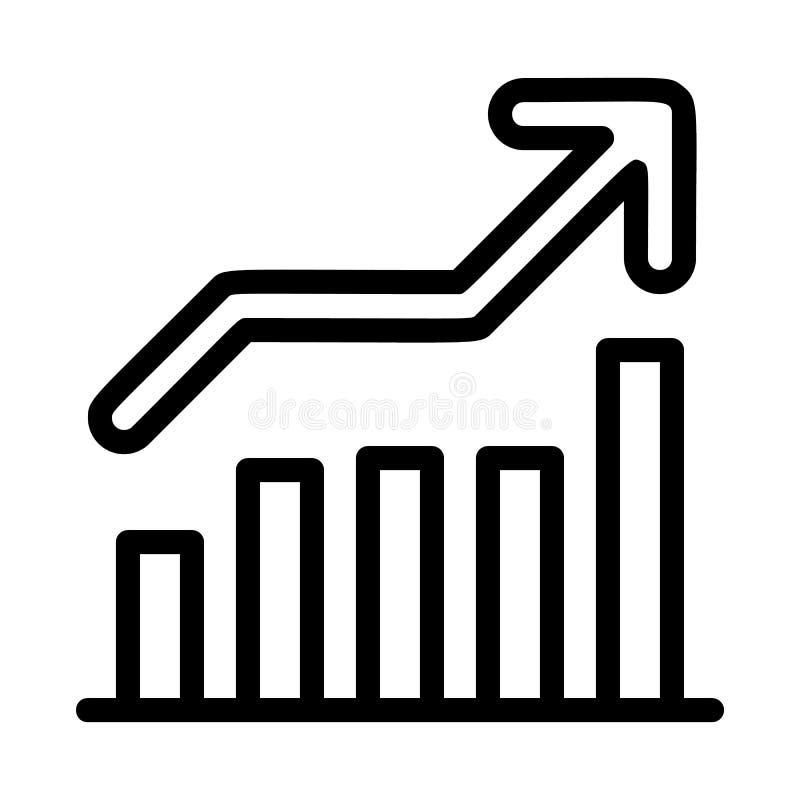 Cresca l'icona del grafico, stile del profilo royalty illustrazione gratis