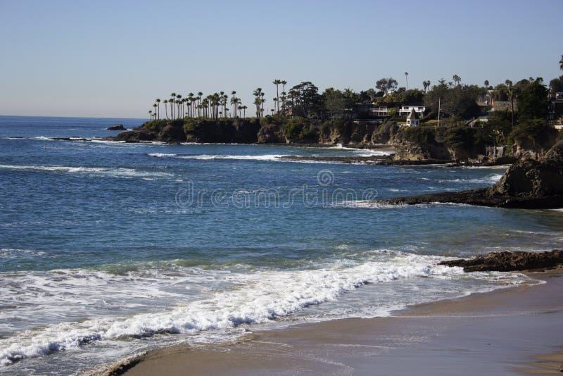 Crescent Bay av Laguna Beach, orange län, Kalifornien USA arkivbilder