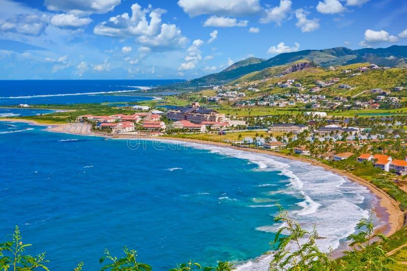 Crescent Bay azul fotografia de stock royalty free