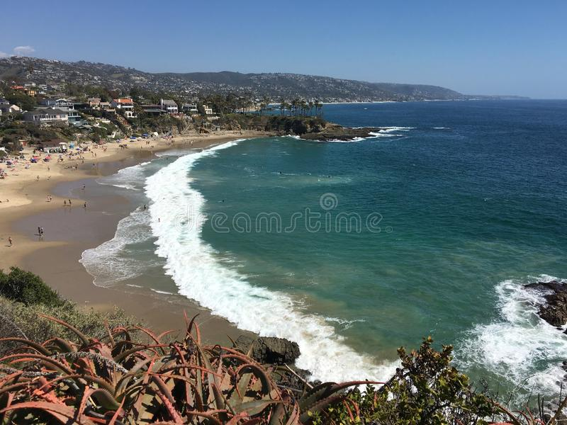 Crescent Bay, Laguna Beach la Californie photo stock