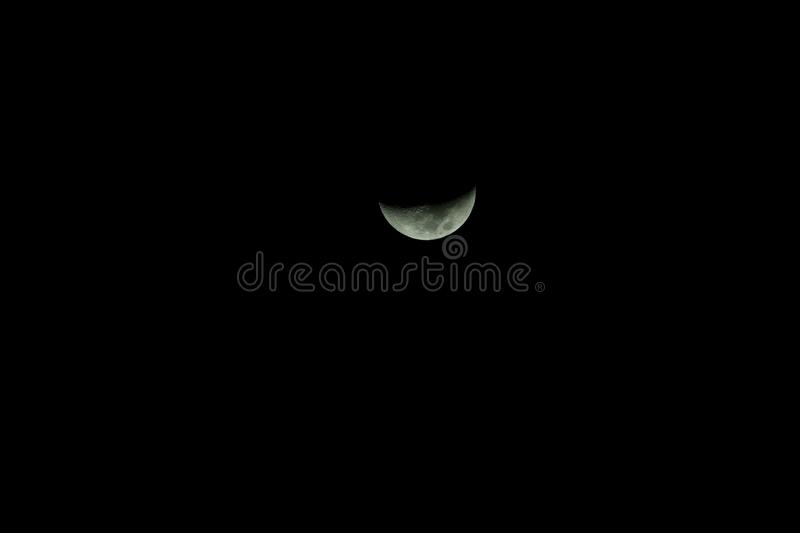 Crescent, Black And White, Atmosphere, Moon royalty free stock images