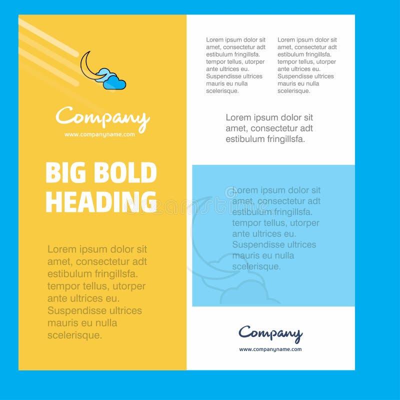Crescent Business Company Poster Template con el lugar para el texto y las imágenes Fondo del vector ilustración del vector