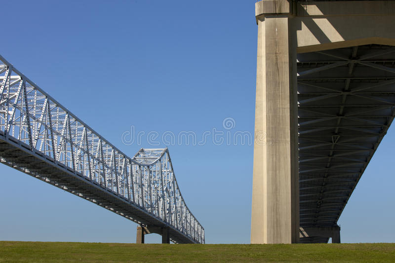 Crescent City Connection Bridge - New Orleans fotografie stock