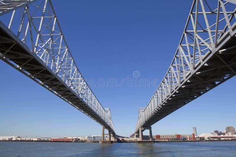 Crescent City Connection - New Orleans, Luisiana imagen de archivo libre de regalías