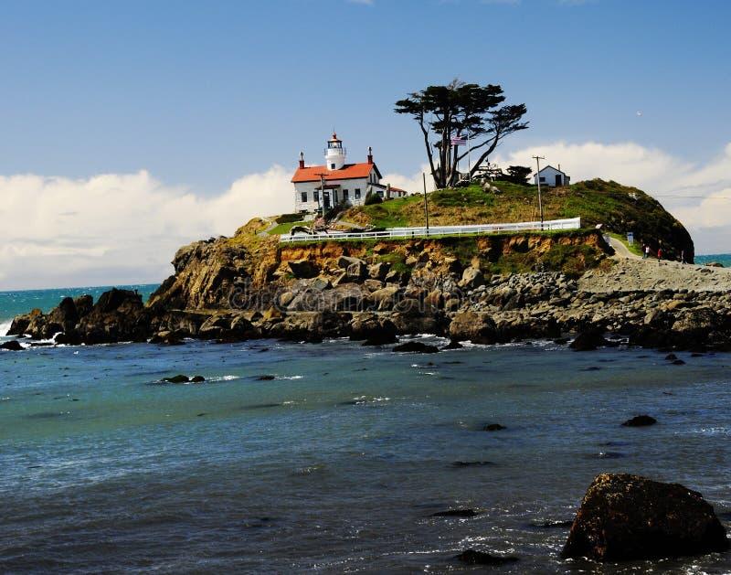 Crescent City Lighthouse royaltyfria bilder