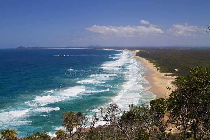 Crescent head beach royalty free stock photography