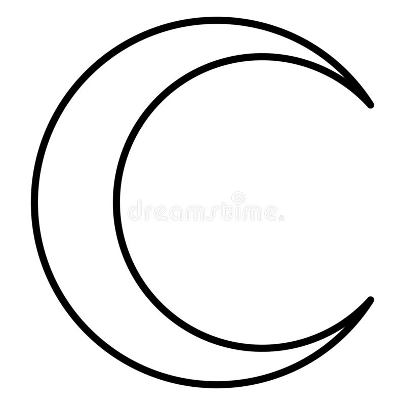 crescent icon flag flat symbol isolated on white background moon vector stock vector illustration of graphic crescent 164982859 dreamstime com
