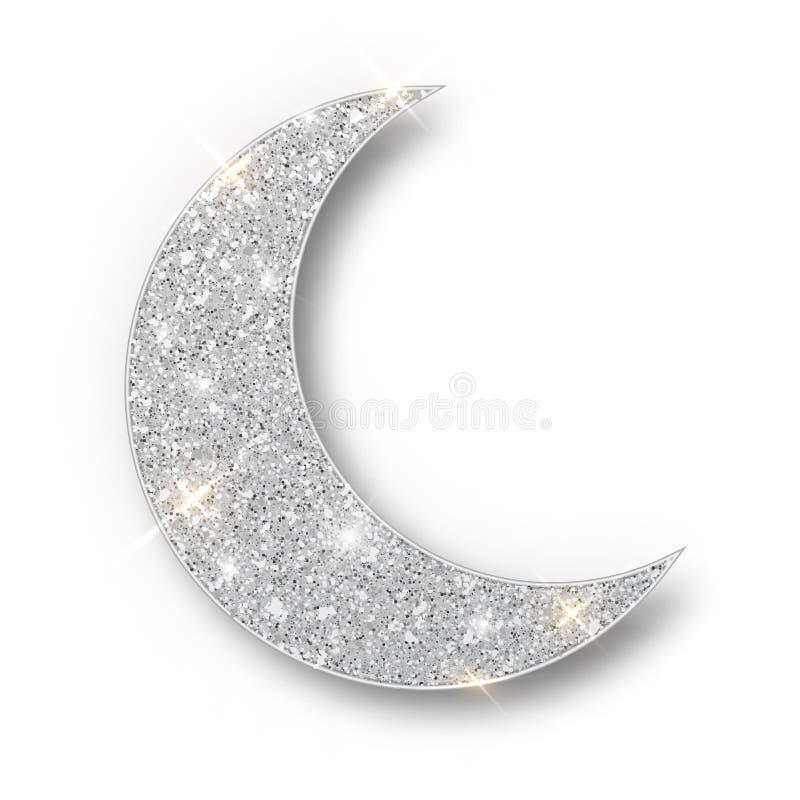 Crescent Islamic voor Ramadan Kareem-geïsoleerd ontwerpelement E vector illustratie