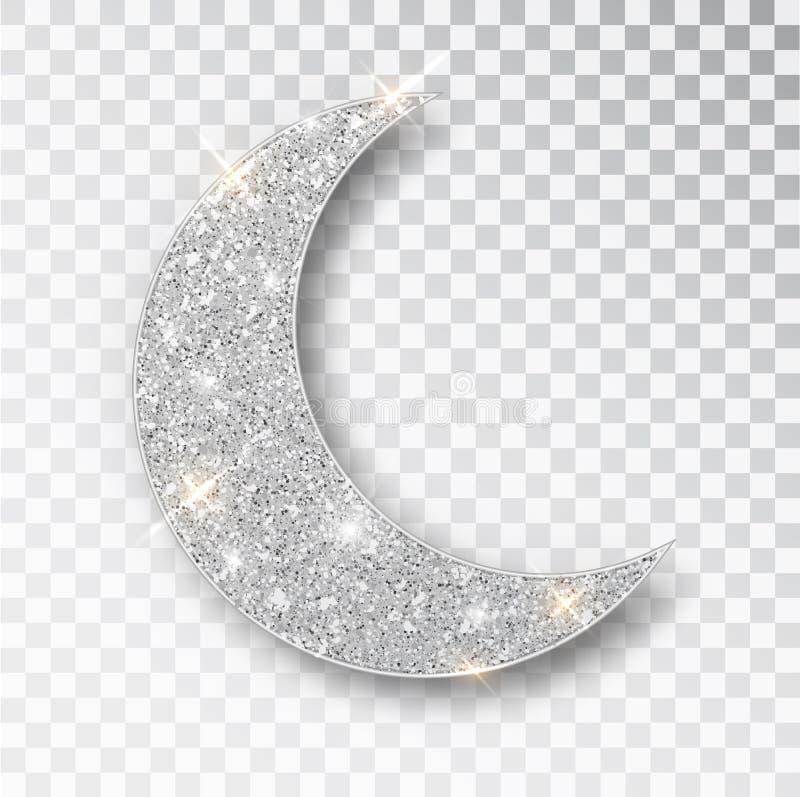 Crescent Islamic voor Ramadan Kareem-ge?soleerd ontwerpelement E vector illustratie