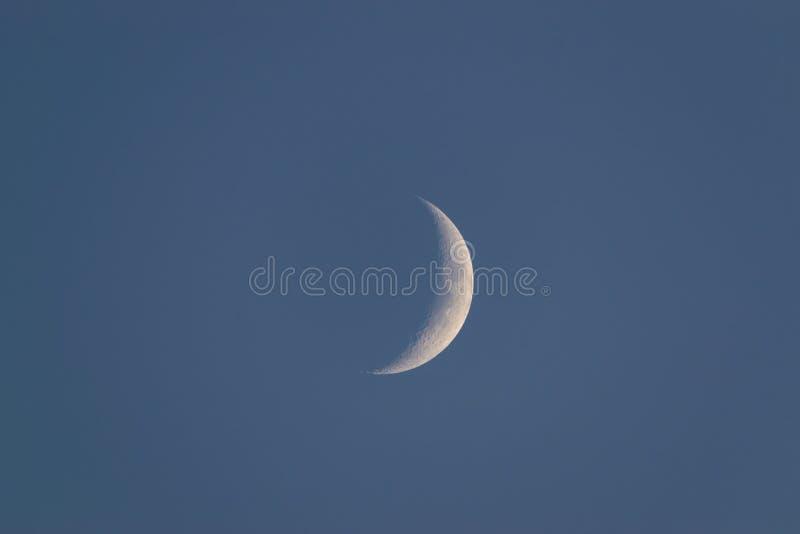Crescent maan over de hemel royalty-vrije stock foto's
