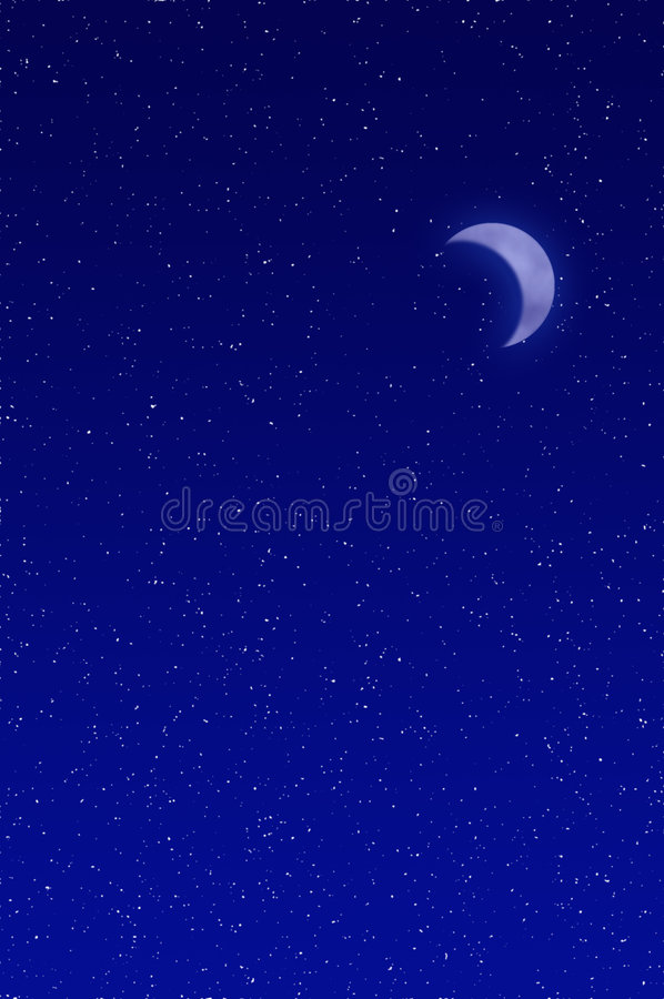 Download Crescent moon stock image. Image of solar, planet, moon - 1825465