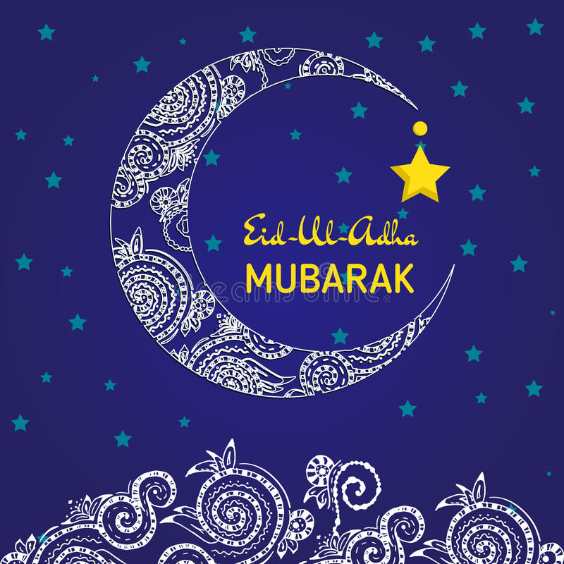 Wonderful Spring Eid Al-Fitr Decorations - crescent-moon-decorated-zentangle-muslim-community-festival-eid-al-fitr-mubarak-greeting-card-template-76622536  Picture_421422 .jpg