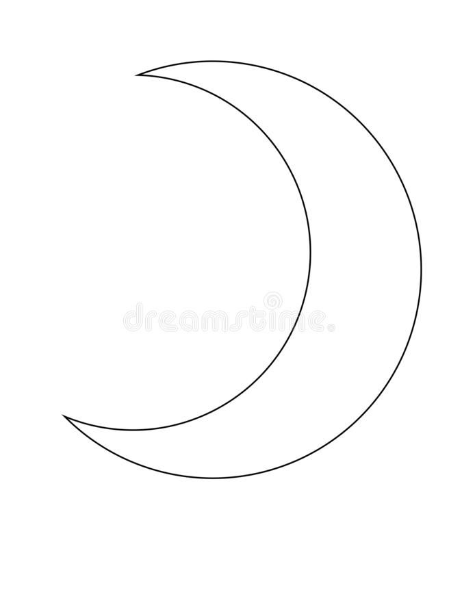 crescent moon outline the month of the muslim symbol stock vector illustration of moon culture 144820168 crescent moon outline the month of the