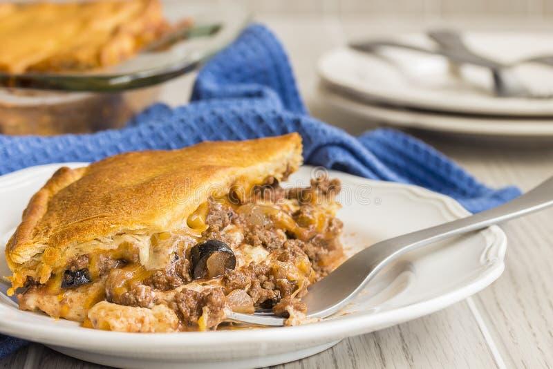 Crescent Roll Lasagna foto de stock