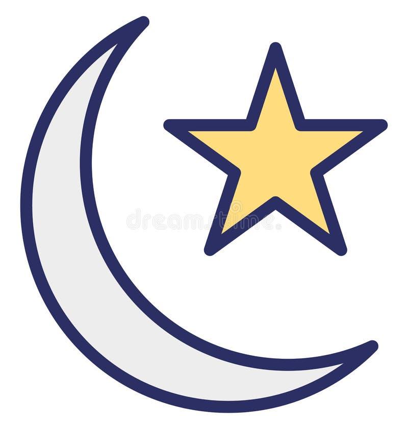 Crescent Vector Icon wat gemakkelijk gewijzigd of uitgeven kan royalty-vrije illustratie