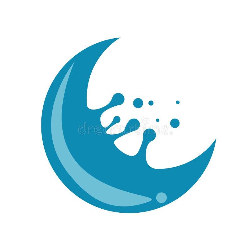 Crescent Water Splash vector illustratie