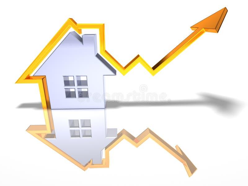 Crescer dos bens imobiliários ilustração royalty free
